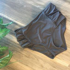 Athleta Swim - Athleta High Waisted Ruched Bikini Bottom